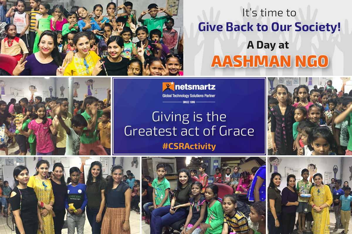 CSR Activities-Giving Back To Our Society Aashman NGO